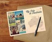 DIY printable Australia travel journal with map