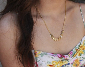 Leaf Necklace - gold only
