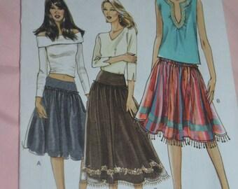 Vogue 8254 Misses Yoked Skirt Sewing Pattern - UNCUT - Sizes 12-18