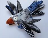 that queer bird - bird brooch - ooak