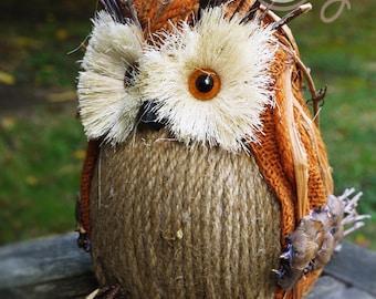 Happy Halloween Owl, Owl, Halloween Decoration, Owl Decoration, Halloween, Handmade Owl, Rustic Owl, Halloween Gift, Halloween Decor