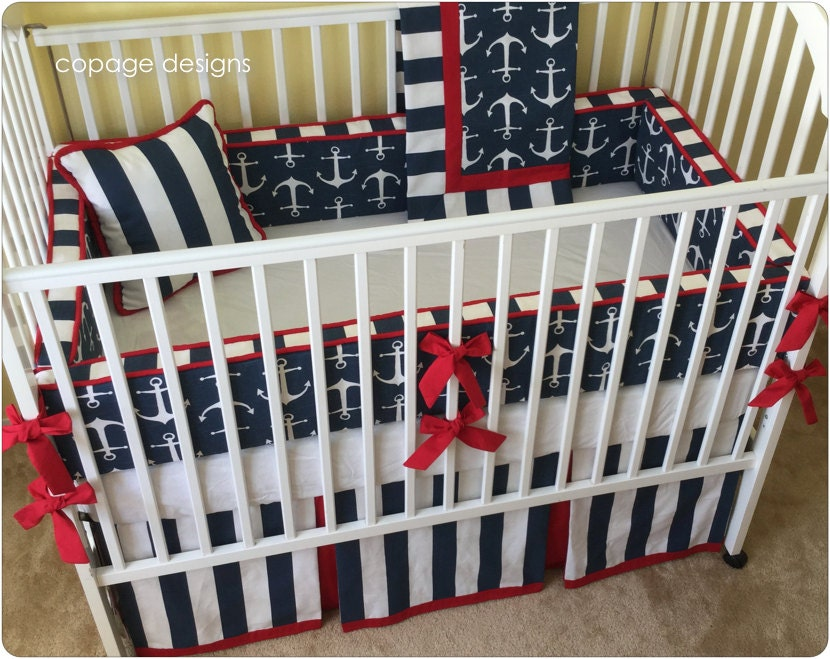 Anchors Nautical Theme Sailor Baby Boy Crib Bedding Pick