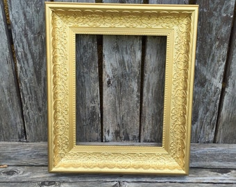 Gold 8x10 Frame, Ornate Picture Frame,  8x10, GOLD ,Glass and Backings ,Wedding Frame, (Los Angeles)