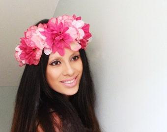 Flower Crown, Floral Crown, Boho Flower Crown