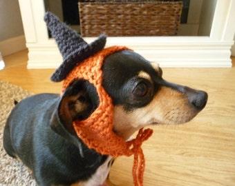 Dog Hat CROCHET PATTERN Witch Hat Pampered Pooch Instant Download PDF Crochet Dog Hat Photo Prop Orange Black Crochet Dog Pattern Small Dog