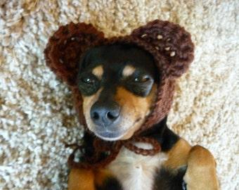 Bear Dog Hat CROCHET PATTERN Crochet Dog Hat Pattern Crochet Dog Costume Pattern Crochet Dog Supplies Pattern Crochet Dog Accessories Cute
