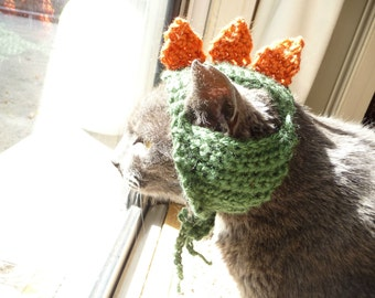 Dinosaur Cat Hat Dino Cat Costume Pet Clothes Cat Outfit Gift for Cat Lover Halloween Pets Cat Cap Hat for Cat Costume for Cats Knit Cat Hat