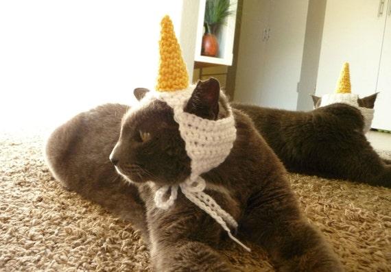 Cat Costume for a Cat CROCHET PATTERN Unicorn Pet Costume for