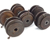 "Vintage Round Wooden Twine Spool 4"" - Purchase individually or as a set."