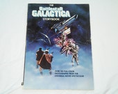 "Vintage Scholastic Paperback, ""The Battlestar Galactica Storybook"" based on the original TV-Movie. Includes over 100 photographs."