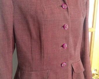 1940s vintage tweed blazer jacket Conrad's of Boston