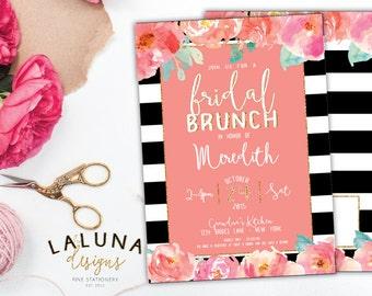Bridal Shower Invitation, Bridal Brunch Invitation, Bridal Brunch Invites, Bridal Brunch Shower Invitation, Gold Glitter Bridal Shower
