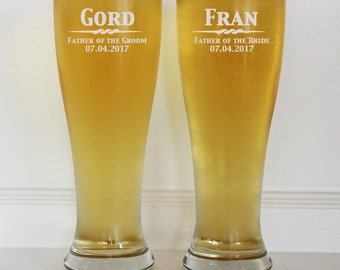 Father of the Bride Gift, Father of the Groom Gift, Gifts for Dad, Beer Glasses, Father of Bride Gift, Father Wedding Gift, Father Daughter