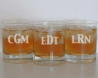 3 Gifts for Men, Personalized Scotch Glasses, Wedding Gifts, Custom Glasses, Groomsmen Gift, Old Fashioned Whiskey Glasses, Spring Wedding