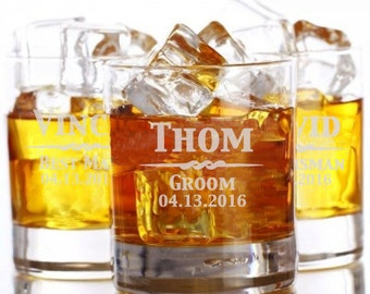 Whiskey Glass, Rocks Glass, Engraved Glasses, Whiskey Glasses, Whiskey Groomsmen Gift, Custom Whiskey Glasses, Monogram Whiskey Glass