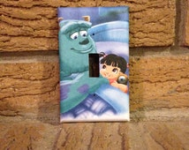 Monsters Inc Goodnight Boo Light Switch Cover, Monster Inc Decoration, Monsters Inc Nursery, Monsters Inc Baby Shower, Monsters Inc Boo