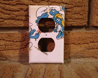Smurfs Electric Outlet Plate Cover