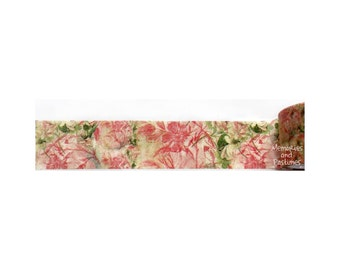 Watercolor Floral Washi Tape - Wide Washi Tape - Planner Washi Tape - Scrapbooking Embellishment - Gift Wrapping - Love My Tapes - 502000