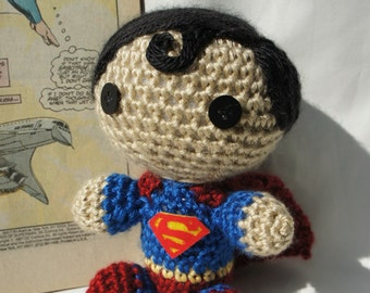 Crocheted Superman Doll