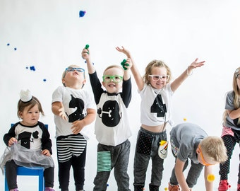 3rd Birthday Shirt Raglan, Hipster Birthday, black and white baby clothes, monochrome baby, toddler raglan, toddler clothes, third birthday