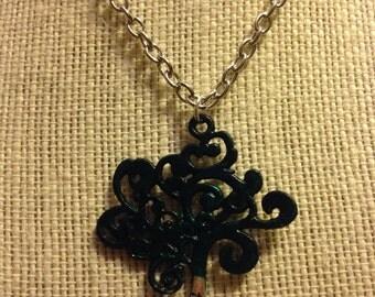 "24"" Dark Green Tree Of Life Necklace"