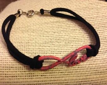 Pink&Black Love Infinity Symbol Bracelet