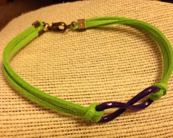 Violet&Lime Infinity Symbol Bracelet