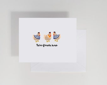Christmas Card, Three French Hens