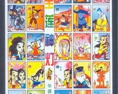 Colourful Chinese TV Cards - Monkey King and Anime - Collage, Altered Books