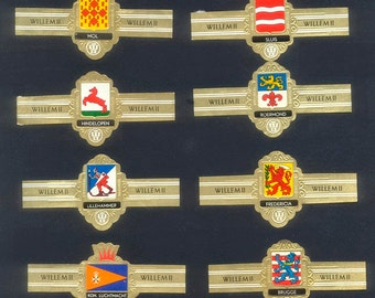 Vintage Dutch Cigar Bands - Flags  - Collage, Decoupage, Handmade Cards