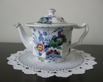 Vintage Booths China - NETHERLANDS PATTERN - Teapot -  Made In England - 1920's