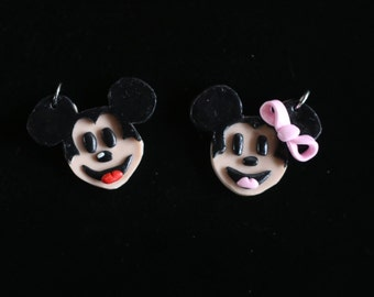 Mickey or Minnie Mouse Inspired Pendant