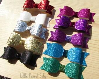 Sparkle Glitter headband or clip - glitter headband - glitter clip - glitter bow