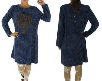 FK600 Kleid Vintage Mori Girls Gr. XS-M blau