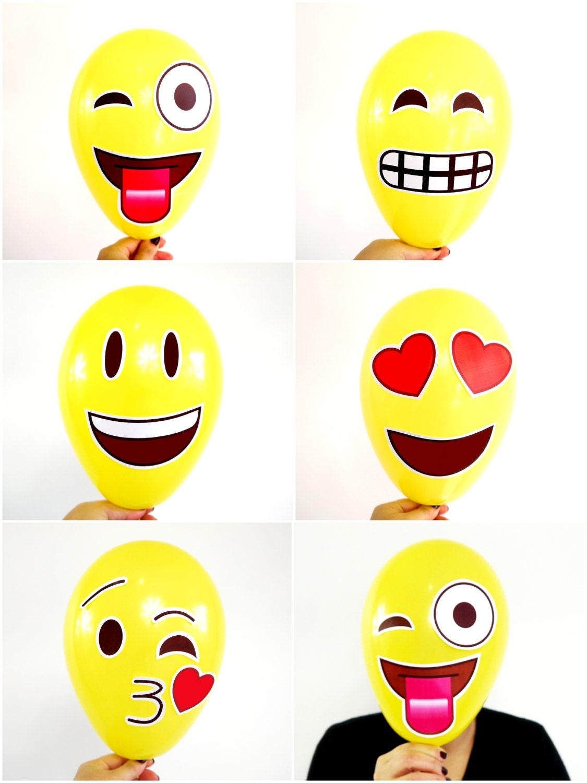 Emoji inspired party printables supplies amp by birdspartysupplies