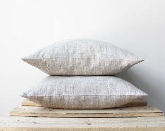 2 Natural linen pillow covers, Eco friendly Pure Linen, Decorative Pillows