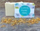 Calendula Baby Soap - Vegan, Natural Dye Free Soap - Soy Free, Baby Gift, New Mom Gift, Baby Shower Gift, Organic Fragrance Free Bar Soap
