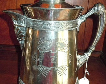 Antique Silver Insulated Water Jug