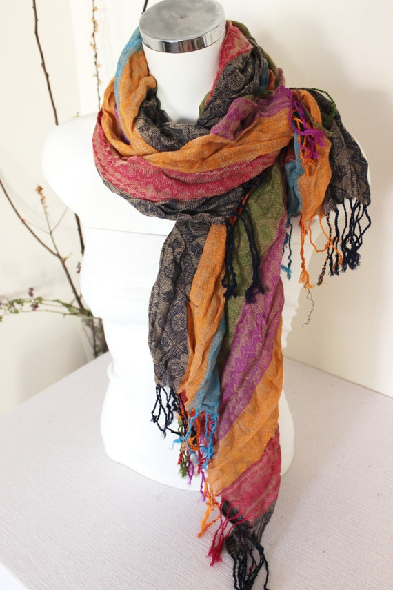 turkish linen scarf ethnic scarves color by