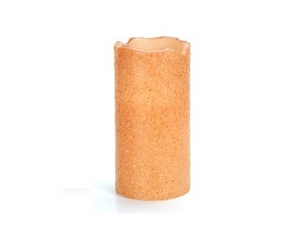 LED Candle - Primitive Style - Textured -Tan - 3 x 6 inches