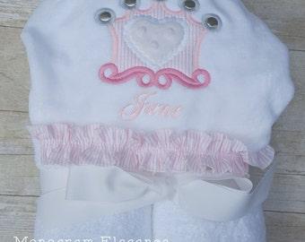 Appliqued Crown Hooded Towel