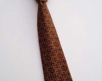 Boys Neck Tie, Infant Neck Tie, Toddler Neck Tie, Brown Neck Tie
