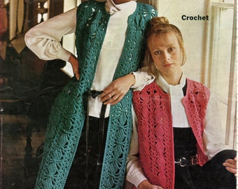 Vintage crochet coat pattern.