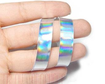 Rainbow holographic Choker kawaii soft grunge pastel goth holo iridescent