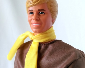 Vintage Ken Doll, 1983, Mattel Fashion Doll, Barbie's Friend, Retro Doll, Ken Doll Clothes, Man Doll with Stand, Blond Hair, Blue Eyes