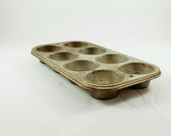 Ekco Cupcake Tin, Metal Muffin Tin, Aluminum Muffin Pan, Small Muffin Tin, Drawer Organizer