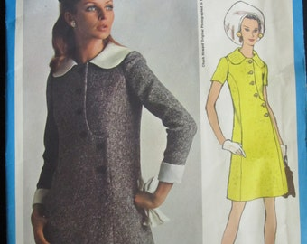 VOGUE AMERICANA Pattern 2171 Chuck Howard Design Bust 34 Size 14, Misses One-Piece Dress, 1960s Vintage Vogue Pattern