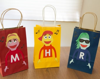 Rock-a-baby puppets favor bags (set of 12)