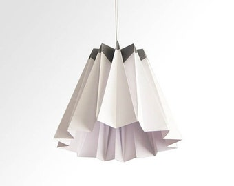 Jelly / Origami Paper LampShade- Gray and White