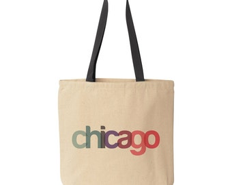 Chicago Tote Bag | Bridesmaid Gift | Chicago Gift | Wedding Favor | Wedding Party Gift